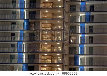 Illuminated Balcony