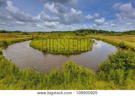 Winding Lowland River