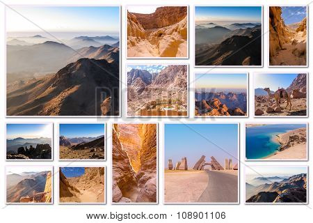 Egypt Sinai Peninsula Collage