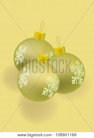 Vector christmatball gold color