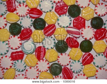 Christmas Hard Candies  Background