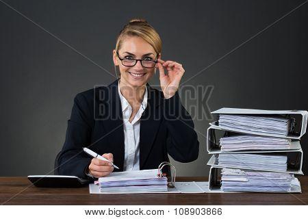 Accountant Wearing Eyeglasses