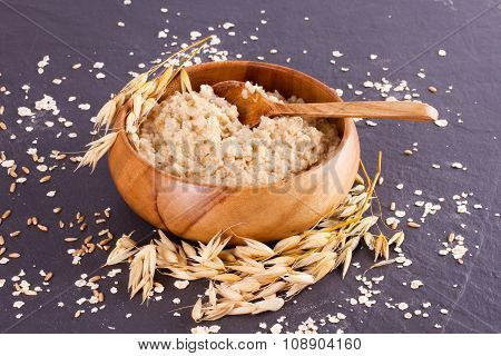 Oatmeal And Ears Of Corn Oat