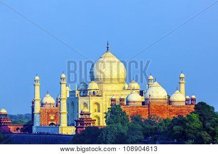 Perspective View On Taj-mahal Mausoleum