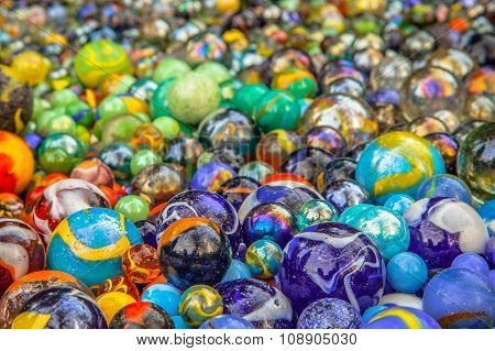 Background Of Colorful Marbles