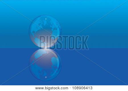 marble ball earth illustration vector