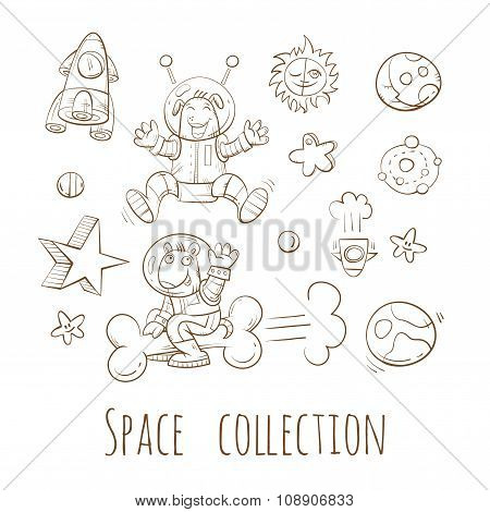 Cartoon Space Set.