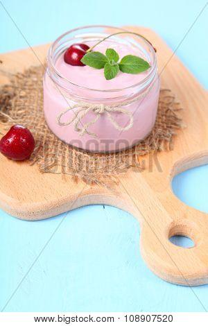 Cherry Yogurt And Cherry