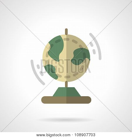 Earth model flat color vector icon