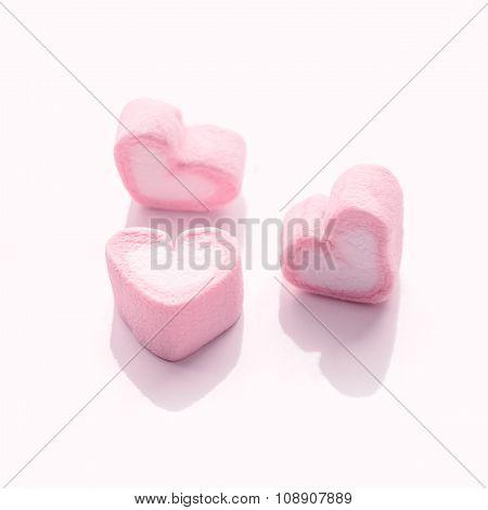 Soft Focus - Heart Shape Pink Candy