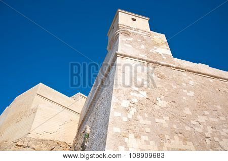 Detail Of The Castle Of Victoria, Rabat, Gozo, Malta