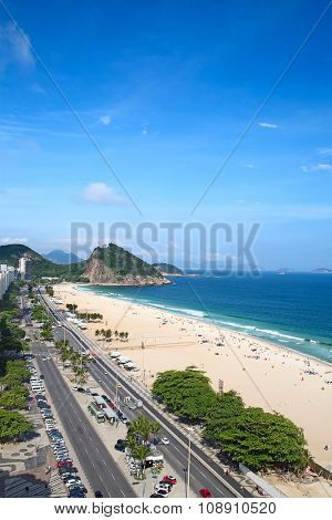 Famous Copacabana beach in Rio de Janeiro, Brasil