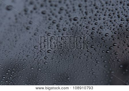 Rain Rop On Glass