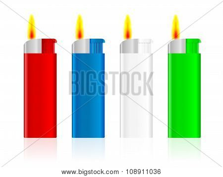 Lighter Set Fire