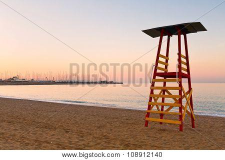Beach in Palio Faliro, Athens.