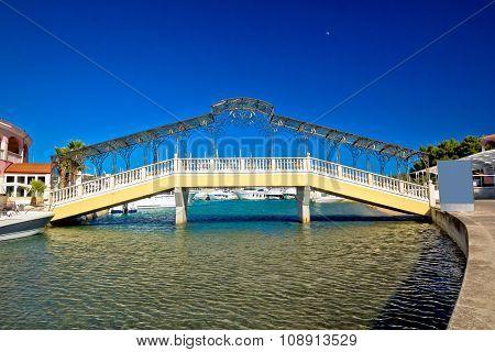 Adriatic Town Of Rogoznica Iron Bridge