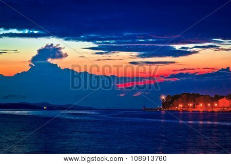 Puntamika Peninsula In Zadar Epic Twilight