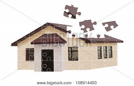 Puzzle Building House