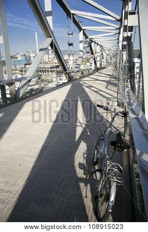 Folding Bike Parked, Barcelona