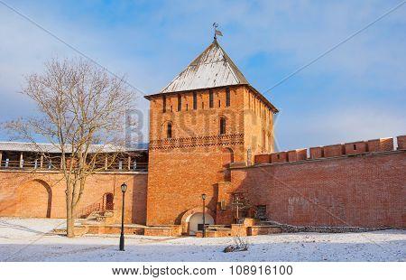 Veliky Novgorod in the winter