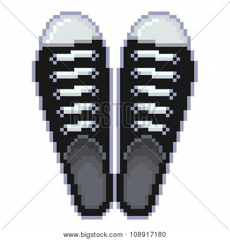 Pixel Gumshoes Isolated Vector