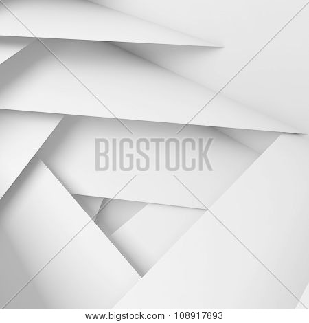 Abstract Geometric Background With 3D White Layers