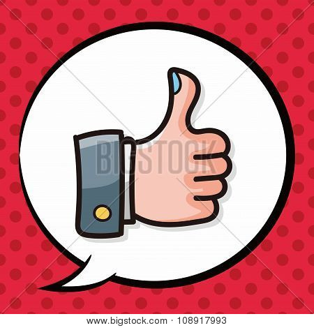 Thumbs Up Color Doodle