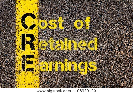 Business Acronym Cre As Cost Of Retained Earnings
