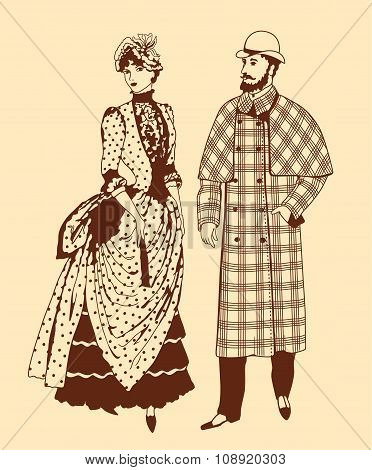 Couple In Retro Style