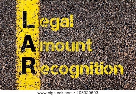 Business Acronym Lar As Legal Amount Recognition