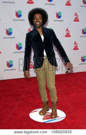 LAS VEGAS - NOV 19:  Alex Cuba at the 16th Latin GRAMMY Awards at the MGM Grand Garden Arena on November 19, 2015 in Las Vegas, NV