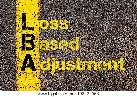 Business Acronym Lba As Loss Based Adjustment