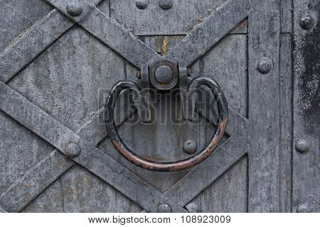 Rusty Metal Cloud Of Ancient Doors. Vintage