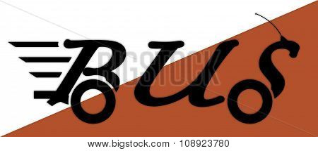 Bus Logo On White And Orange