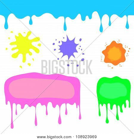Set of Colorful Blots