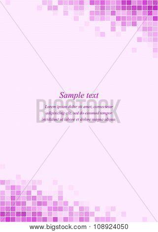 Magenta page corner design template