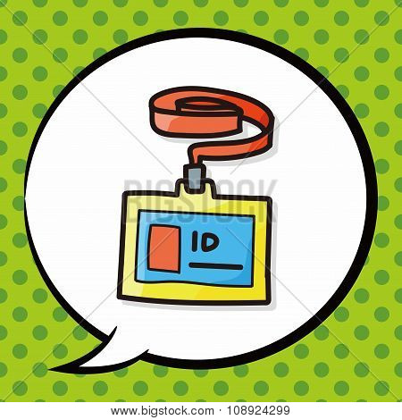 Id Card Color Doodle