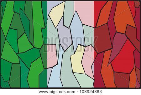 Italian Stained Glass Window