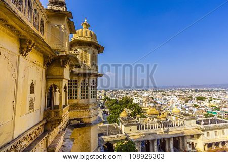 View To Ancient City Of Udaipur From The Kumbhalgarh Fort