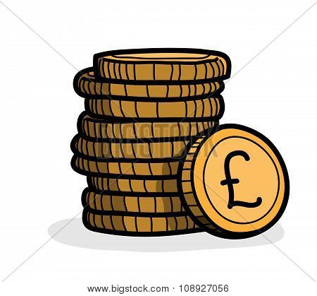 Stack of Coins (Pound Sterling)