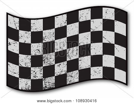 Checkered Flag Grunged