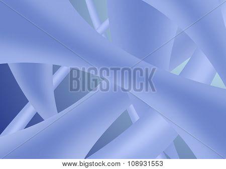 set of tubular abstract shapes arranged randomly