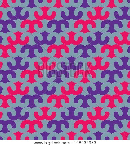 Vector Oriental Ornamental Seamless Pattern With Horns Element