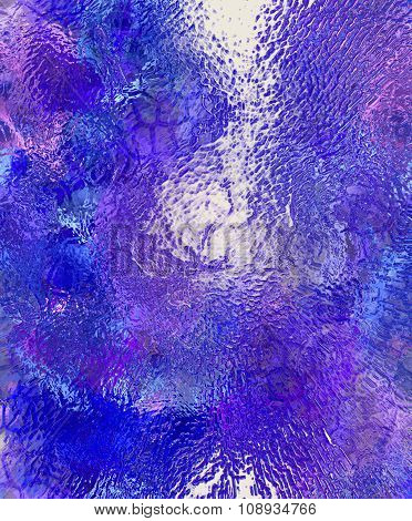 Color abstract background and desert crackle,  Water and glass effect