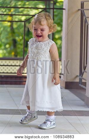 Cute Infant With Tear