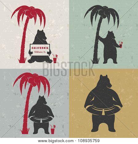 Set Sign Fun Bears