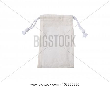 Small Cotton Bag Isolated