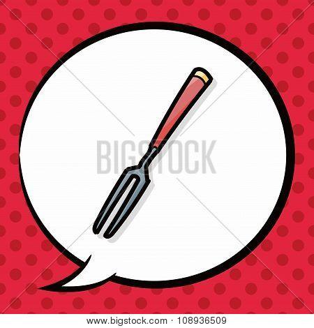 Fork Color Doodle