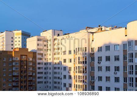 Modern Apartment Building In Morning Sunlight