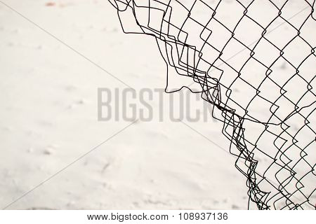 Broken Chain Link Fence